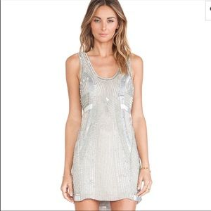 Parker Silver Sequin Dress